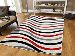 Black And Red Shaggy Rugs Red And White Area Rugs Roselawnlutheran