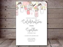 Mason Jar Bridal Shower Invitations Editable Baby Shower Invitations Magical Printable