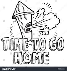 Home Design Doodle Book by Doodle Style Time Go Home Work Stock Vector 130604765 Shutterstock