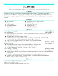 resume professional summary sample office assistant resume example