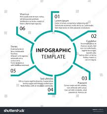 mi report template infographic template report templates 6 steps stock vector