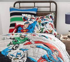 Batman Toddler Bedding Justice League Quilt Pottery Barn Kids