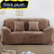 Plush Sofa Bed Aliexpress Com Buy Thick Velvet Plush Sofa Cover Slipcover