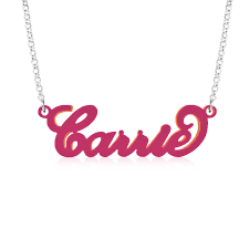 Carrie Bradshaw Name Necklace Carrie Necklaces Carrie Name Necklace Collection