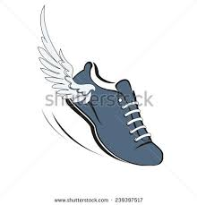 sports shoes running running shoe wing stock vector 239397517