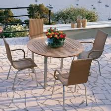 Drop Leaf Patio Table Innovative Round Outside Table And Chairs Round Wooden Garden