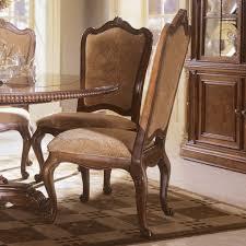 upholstered double pedestal dining set villa cortina dining room