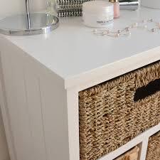 Bathroom Storage Unit by Large White Storage Unit Wicker Drawers Hallway Kitchen
