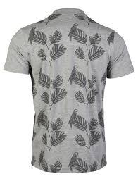 mens d code rock palm tree tropical print sleeve polo shirt