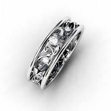 18k white gold wedding band unique white gold diamond rings wedding promise diamond