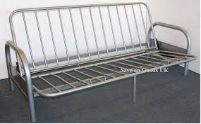 Double Metal Futon Sofabed Frame Silver Sofa Bed Futon Base - Sofa bed frames