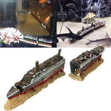 broken titanic aircraft carrier shipwreck fish tank aquarium