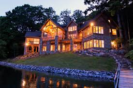 high end house plans luxury lake retreat architectural designs house plan 26600gg
