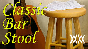Wooden Bar Stool Plans Free by Make A Classic Wooden Bar Stool It U0027s A Great Guitar Stool Too