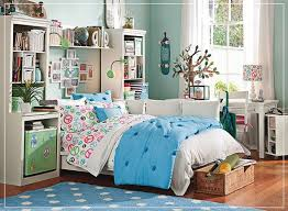 Blue And White Home Decor Kids Bedroom Teenage Bedroom Interior Featuring White Wood