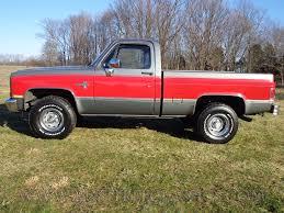 Red Lifted Chevy Silverado Truck - 87 v10 k10 1 2 ton short bed swb silverado fuel injected 4x4 1987