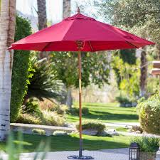 Patio Umbrella On Sale by Belham Living 9 Ft Wood Commercial Grade Sunbrella Market