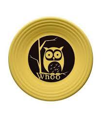 fiesta halloween whoo owl luncheon plate dillards