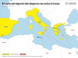 Mediterranean Sea World Map by Unhcr Tracks The Sea Route To Europe