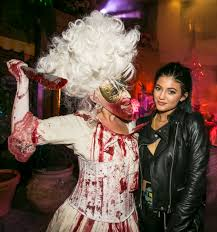 creator of halloween horror nights chris brown u0026 karrueche kylie jenner u0026 tyga at the universal
