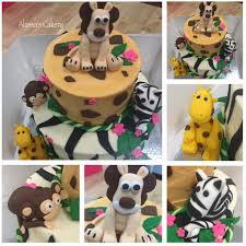 zoo themed birthday cake zoo themed birthday cake alyssas cakery