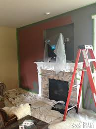 little brags sneak peak of new paint color in our family room