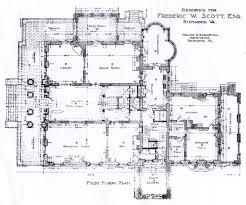 Floor Plan White House Frederick Scott House 1st Floor Architectural Floor Plans
