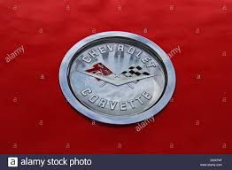 vintage corvette logo chevrolet corvette emblem classic car stock photo royalty free