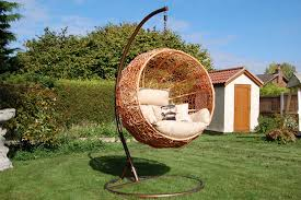 Swing Chair With Stand Chair Furniture Modern Outdoor Hanging Chair Stand Basket Cushions