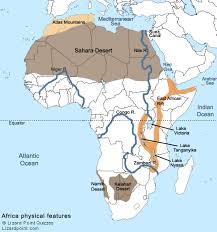 world map mountains rivers deserts physical map of africa with rivers and mountains and deserts