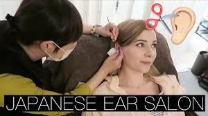 my first ear hair cut japanese ear salon youtube
