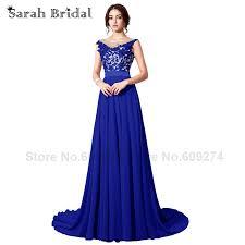aliexpress com buy long elegant royal blue prom dresses