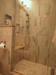 standup shower with river rock floor traditional bathroom newark