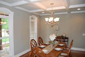 pictures of coffered ceilings white finished wooden dining table