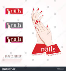 womans hands red nails vector illustration stock vector 213971014