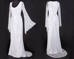elvish style wedding dresses velvet lace elven style wedding by thedarkangeldesignco