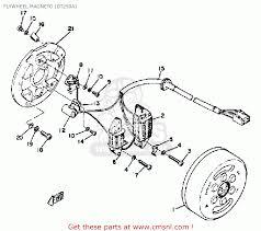 yamaha dt250 1974 usa flywheel magneto dt250a schematic partsfiche