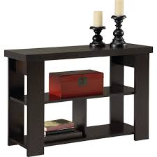 Sofa Table In Living Room Ameriwood Home Larkin Console Table Espresso Walmart Com