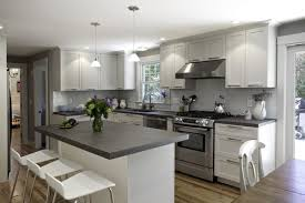 light grey grey kitchen cabinets with white countertops 26 gray kitchen countertops with white cabinets ideas