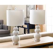 abbyson camden gourd white table lamp set of 2 free shipping