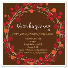 thanksgiving wreath invite invitations cards on pingg