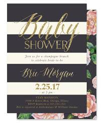 brie baby shower invitation blush pink roses grey u0026 gold glitter