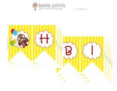 curious george free party printables party