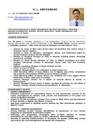 Sample Resume For Zonal Sales Manager by Resume V L Abhyankar 2015