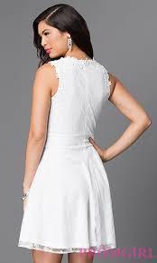 sleeveless illusion lace homecoming dress promgirl