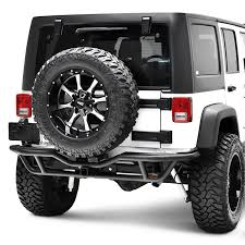 jeep rear bumper with tire carrier paramount jeep wrangler 2007 2017 off road xtreme crawler full