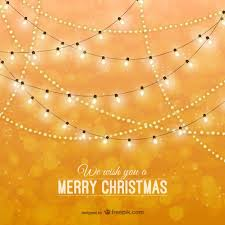 christmas card with classic lights vector free download