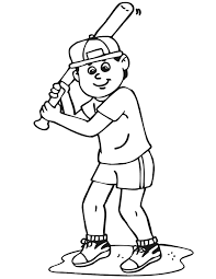 baseball bat coloring pages printable baseball batter coloring page boy batting left handed