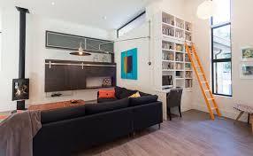bureau echelle decoration bibliothèque déco avec bureau échelle coulissante orange