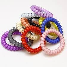 bobbles hair 20pc mix color cord twisted plastic gummy for hair